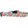 Mirage Pet Products Bright Diamonds Nylon Ribbon Dog Collar Medium Narrow