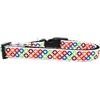 Mirage Pet Products Bright Diamonds Nylon Ribbon Dog Collar Medium Narrow