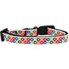 Mirage Pet Products Bright Diamonds Nylon Ribbon Dog Collar XS