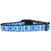 Mirage Pet Products Damask Nylon Dog Collar Large Blue