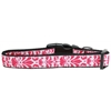 Mirage Pet Products Damask Nylon Dog Collar Large Bright Pink