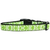 Mirage Pet Products Damask Nylon Dog Collar Large Lime Green