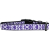 Mirage Pet Products Damask Nylon Dog Collar Medium Purple