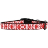 Mirage Pet Products Damask Nylon Dog Collar Medium Red