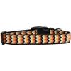 Mirage Pet Products Pumpkin Chevrons Nylon Dog Collar Large