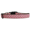 Mirage Pet Products Pink Checkers Nylon Dog Collar Medium