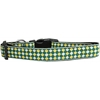 Mirage Pet Products Green Checkers Nylon Dog Collar Medium