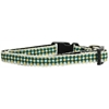 Mirage Pet Products Green Checkers Nylon Collar Cat Safety