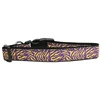Mirage Pet Products Purple and Yellow Tiger Stripes Nylon Dog Collar Large