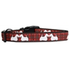 Mirage Pet Products Red Plaid Scottie Pups Nylon Dog Collar Medium