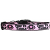 Mirage Pet Products Tackle Breast Cancer Nylon Dog Collar Medium