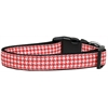 Mirage Pet Products Red Houndstooth Nylon Dog Collar Medium