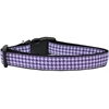Mirage Pet Products Purple Houndstooth Nylon Dog Collar Medium