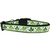 Mirage Pet Products St. Patty's Day Party Owls Nylon Dog Collar Large