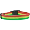 Mirage Pet Products Rasta Bamboo Nylon Dog Collar Large