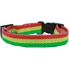 Mirage Pet Products Rasta Bamboo Nylon Dog Collar Medium