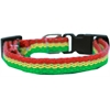 Mirage Pet Products Rasta Bamboo Nylon Dog Collar Sm
