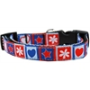 Mirage Pet Products Stars and Hearts Nylon Dog Collar MD Narrow