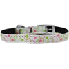 "Mirage Pet Products Retro Nylon Dog Collar with classic buckle 3/8"" White Size 10"