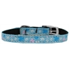 "Mirage Pet Products Butterfly Nylon Dog Collar with classic buckle 3/8"" Blue Size 14"