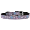"Mirage Pet Products Butterfly Nylon Dog Collar with classic buckle 3/8"" Lavender Size 16"