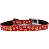 "Mirage Pet Products Butterfly Nylon Dog Collar with classic buckle 3/8"" Red Size 14"