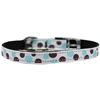 "Mirage Pet Products Confetti Dots Nylon Dog Collar with classic buckle 3/8"" Baby Blue Size 10"