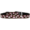 "Mirage Pet Products Confetti Dots Nylon Dog Collar with classic buckle 3/8"" Brown Size 14"