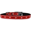 "Mirage Pet Products Anchors Nylon Dog Collar with classic buckle 3/8"" Red Size 16"