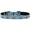 "Mirage Pet Products Cupcakes Nylon Dog Collar with classic buckle 3/8"" Blue Size 16"