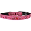 "Mirage Pet Products Cupcakes Nylon Dog Collar with classic buckle 3/8"" Pink Size 14"