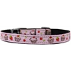 "Mirage Pet Products Cupcakes Nylon Dog Collar with classic buckle 3/8"" Pink Size 12"