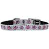 "Mirage Pet Products Graffiti Union Jack(UK Flag) Nylon Dog Collar with classic buckle 3/8"" Size 14"