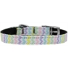 "Mirage Pet Products Spring Chevron Nylon Dog Collar with classic buckle 3/8"" Size 16"