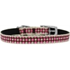 "Mirage Pet Products Pink Checkers Nylon Dog Collar with classic buckle 3/8"" Size 16"