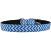 "Mirage Pet Products Chevrons Nylon Dog Collar with classic buckle 3/4"" Blue Size 12"