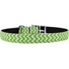 "Mirage Pet Products Chevrons Nylon Dog Collar with classic buckle 3/4"" Lime Green Size 14"
