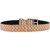 "Mirage Pet Products Chevrons Nylon Dog Collar with classic buckle 3/4"" Orange Size 14"