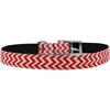 "Mirage Pet Products Chevrons Nylon Dog Collar with classic buckle 3/4"" Red Size 24"