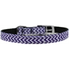"Mirage Pet Products Chevrons Nylon Dog Collar with classic buckle 3/8"" Purple Size 16"