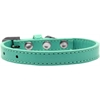 Mirage Pet Products Wichita Plain Dog Collar Aqua Size 14