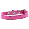 Mirage Pet Products Wichita Plain Dog Collar Bright Pink Size 10