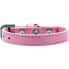 Mirage Pet Products Wichita Plain Dog Collar Light Pink Size 14