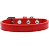 Mirage Pet Products Wichita Plain Dog Collar Red Size 10