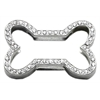 "Mirage Pet Products 3/4"" Slider Bone Charm Clear 3/4"" (18mm)"