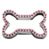 "Mirage Pet Products 3/4"" Slider Bone Charm Pink 3/4"" (18mm)"