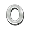 "Mirage Pet Products 3/4"" (18mm) Chrome Letter Sliding Charms O 3/4'' (18mm)"
