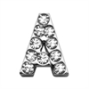 "Mirage Pet Products 3/4"" (18mm) Clear Letter Sliding Charms A 3/4 (18mm)"