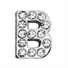"""Mirage Pet Products 3/4"""" (18mm) Clear Letter Sliding Charms B 3/4 (18mm)"""
