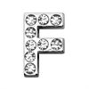 "Mirage Pet Products 3/4"" (18mm) Clear Letter Sliding Charms F 3/4 (18mm)"